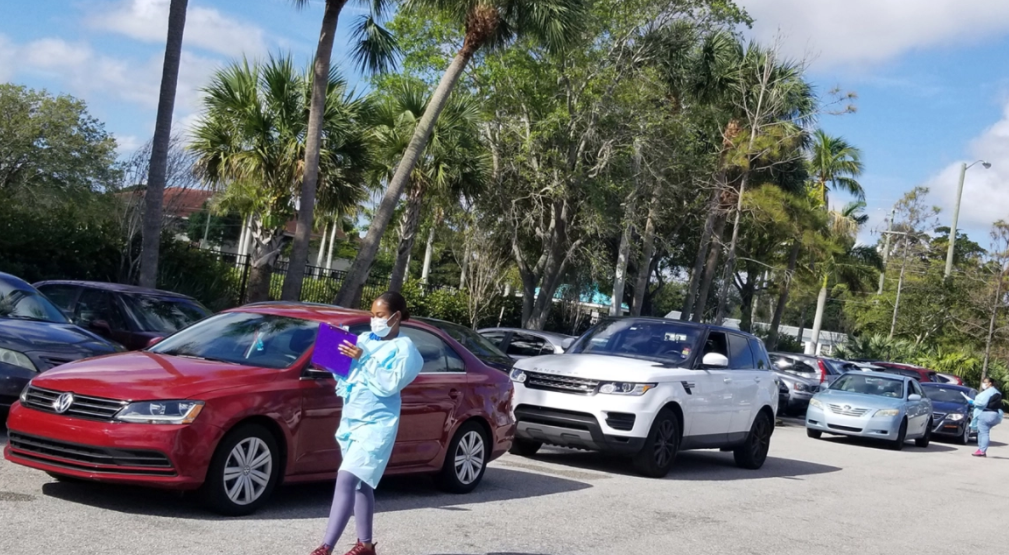 Near Trump's Florida Home, Drive-Thru COVID-19 Testing Gets Off To Rocky Start